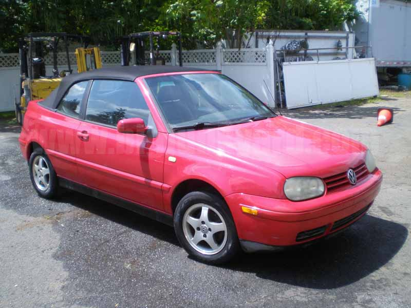 Parting Out 2000 Volkswagen Cabriolet GLS Convertible N-41